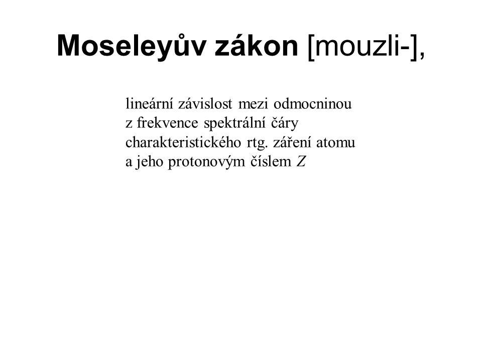 Moseleyův zákon [mouzli-],